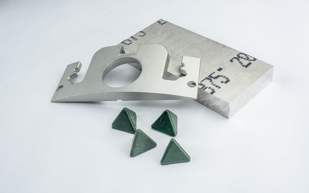 Billet Blank and Final Pump Cover with Tumbling Media
