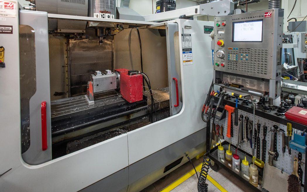 CNC Milling Machine, 4 Axis Setup